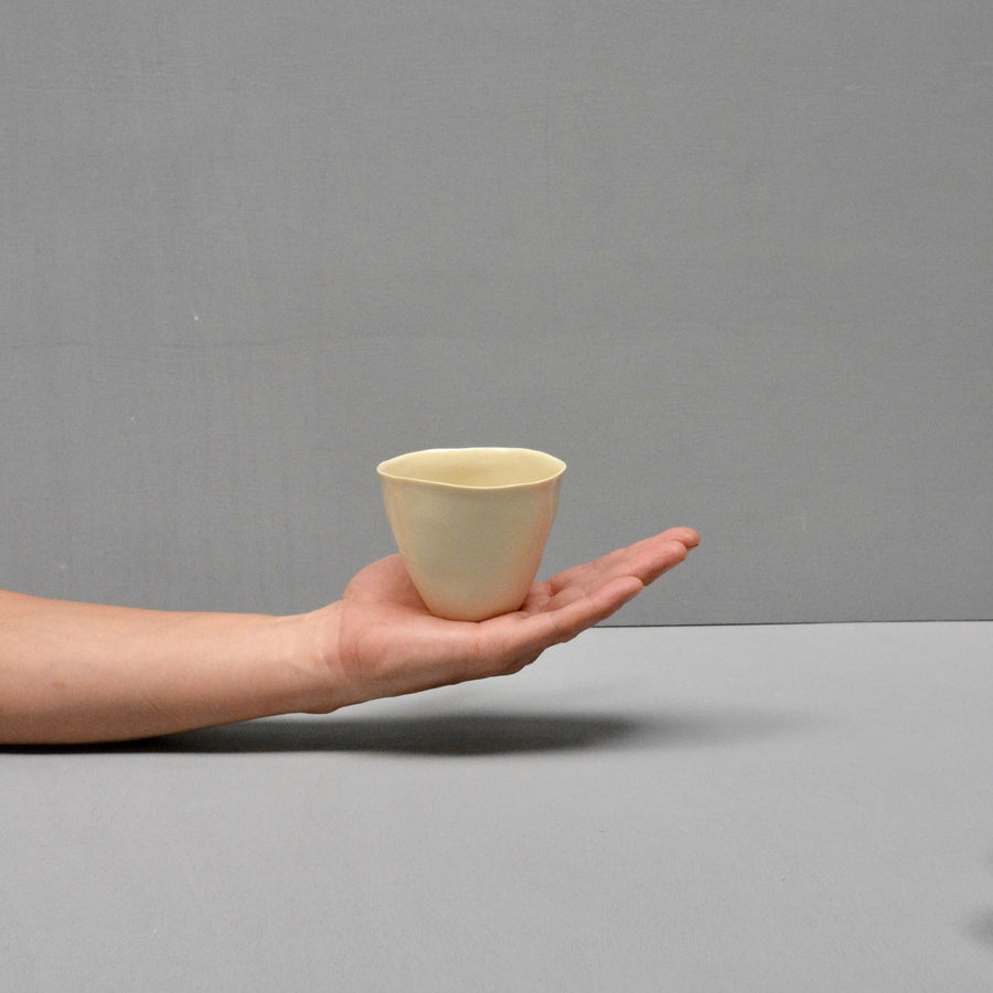 Solid Color porcelain - coffee cups Nr.2- Orange, pink & cream