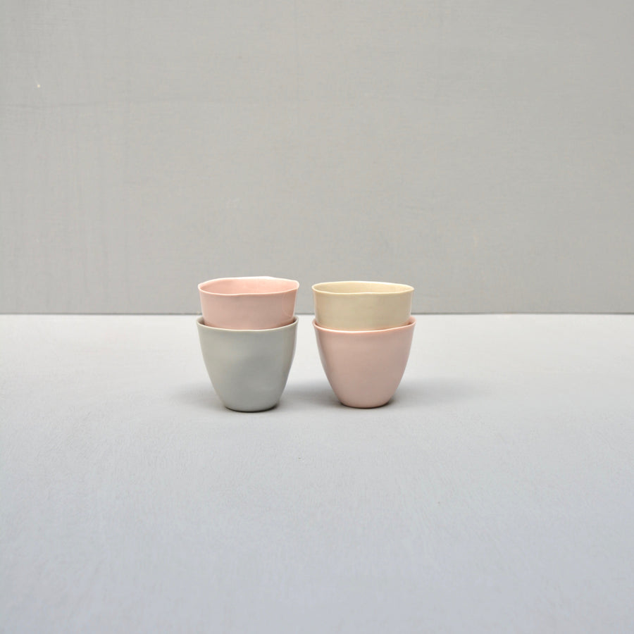 Solid Color porcelain - espresso set 4 cups - pastels