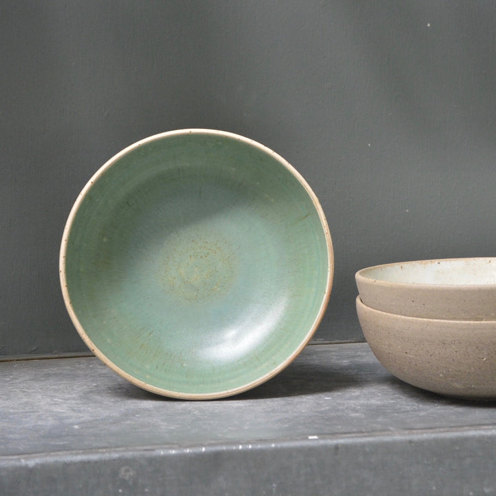 Recycled N&S - Granola & more bowls - Satin green.