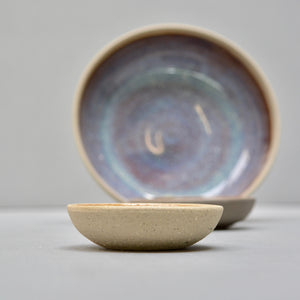 Stone & Color bowls - Sample set with lively opal glaze - grey & anthrazite