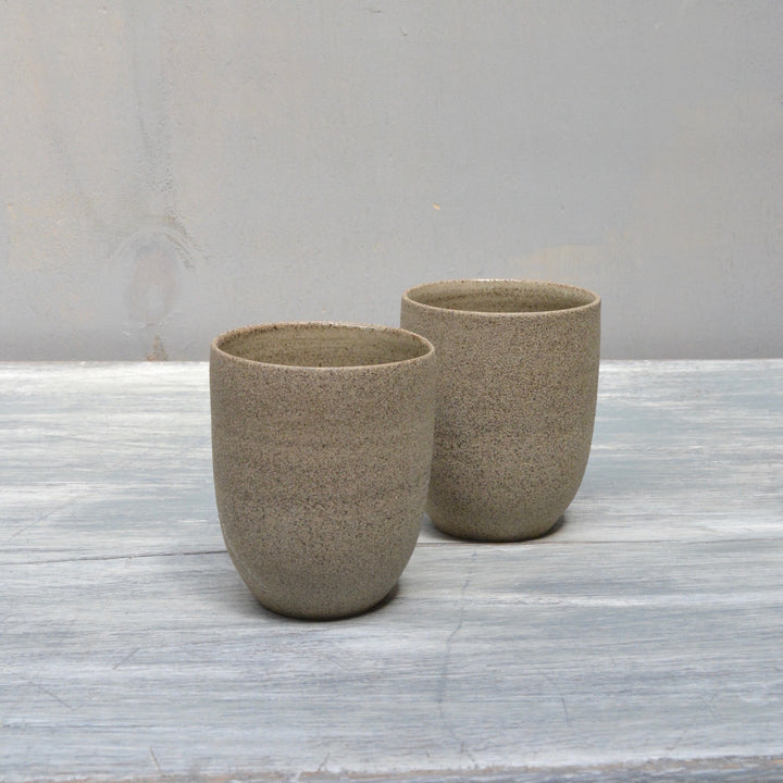 Cafe Lungo Rock cups no handles - Concrete