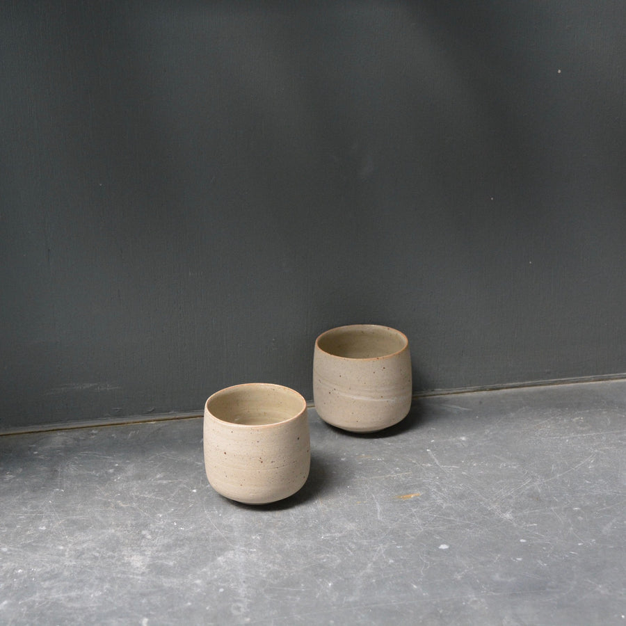 Relax Recycled N&S - ristretto cups no handles - set of 2 in transparant glaze