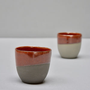 Stone & Color | Grey, antrazite & jasper - Cafe cups no handles - set of 2