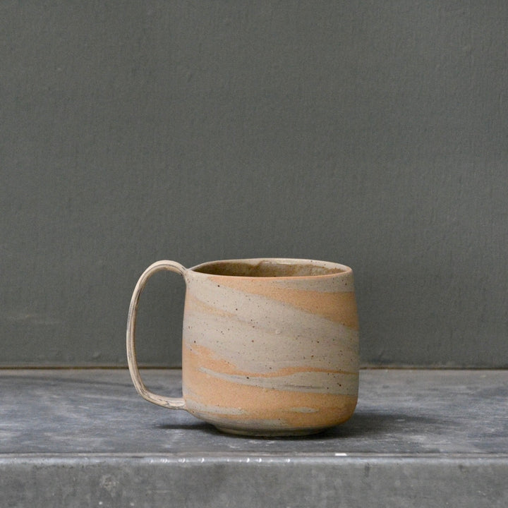 Lazy & Relax mug in Reclaimed & Recycled Amber marble few spots.