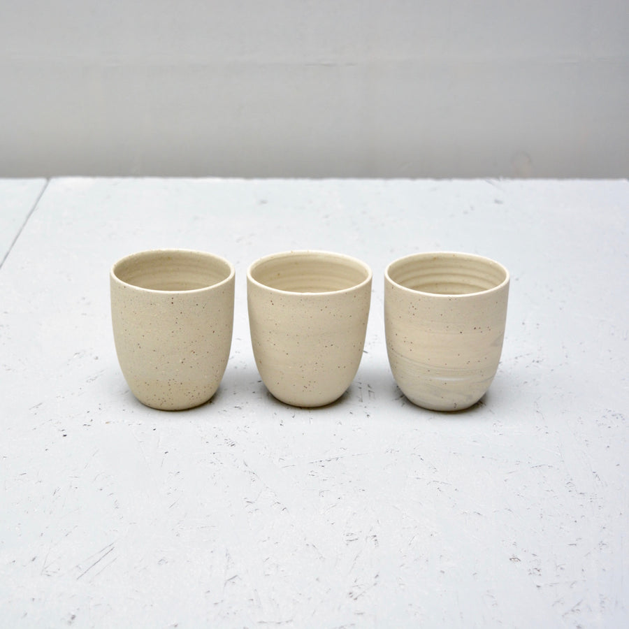 Recycled N&S - Cafe Lungo cups no handles - set of 3