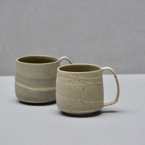 Lazy & Relax mug in Reclaimed & Recycled stone ware Set of two (Nr. 2)