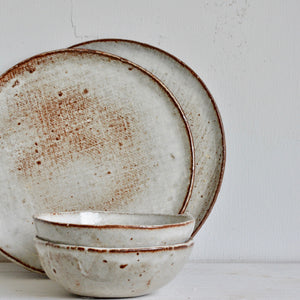 Milky Canvas - Bowl - Round shaped - small 13cm.