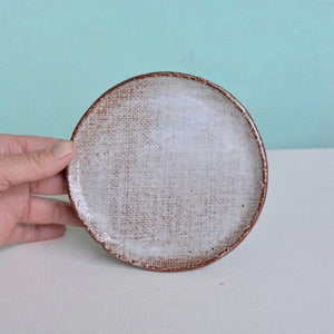 "Small side plate [5""] - in Milky Canvas."