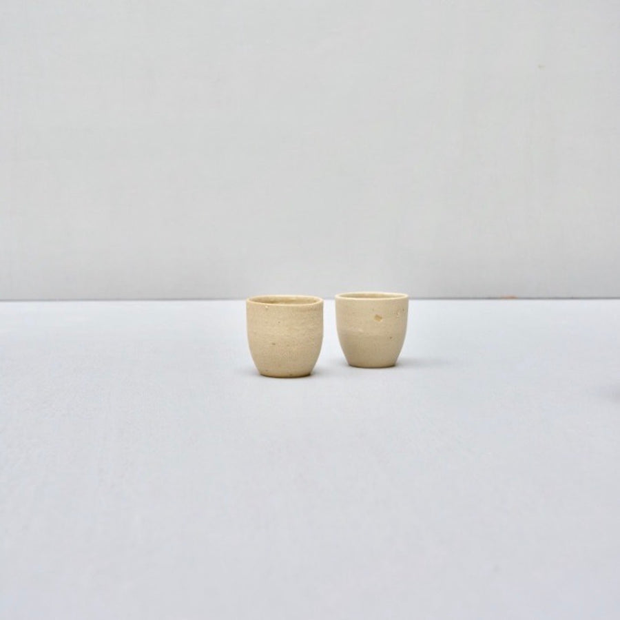 Recycled N&S - ristretto cups no handles - set of 2