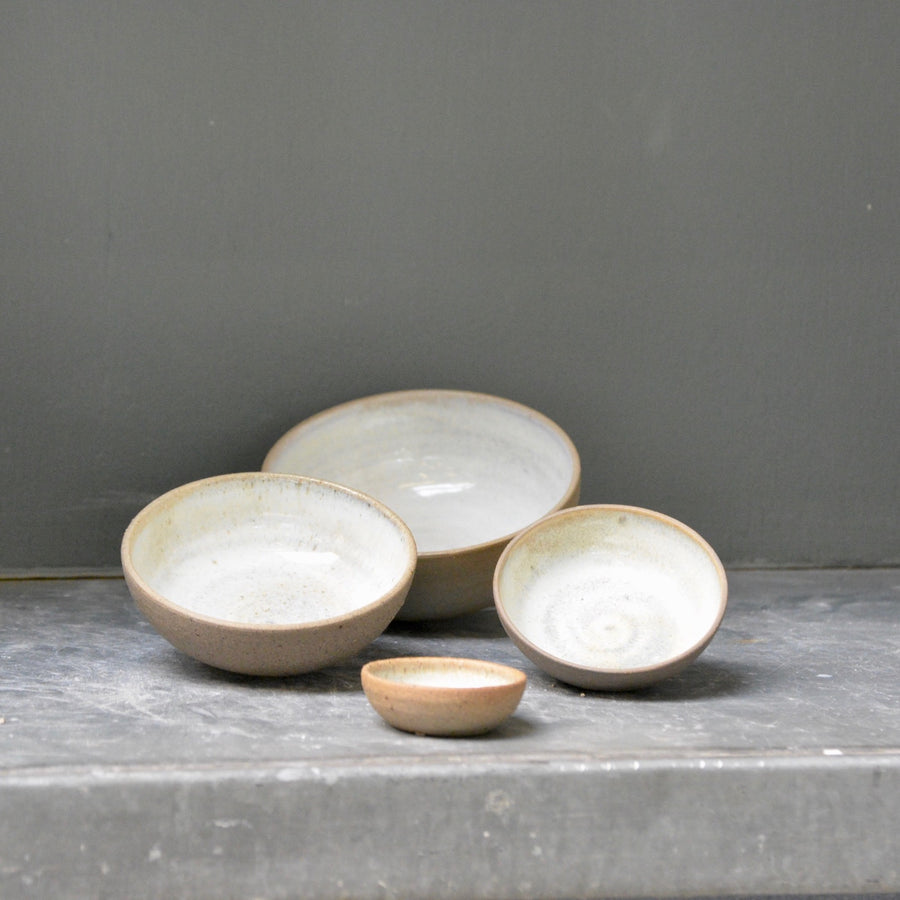 Recycled N&S - mini nesting bowls - 4 little bowl set in Magnesite