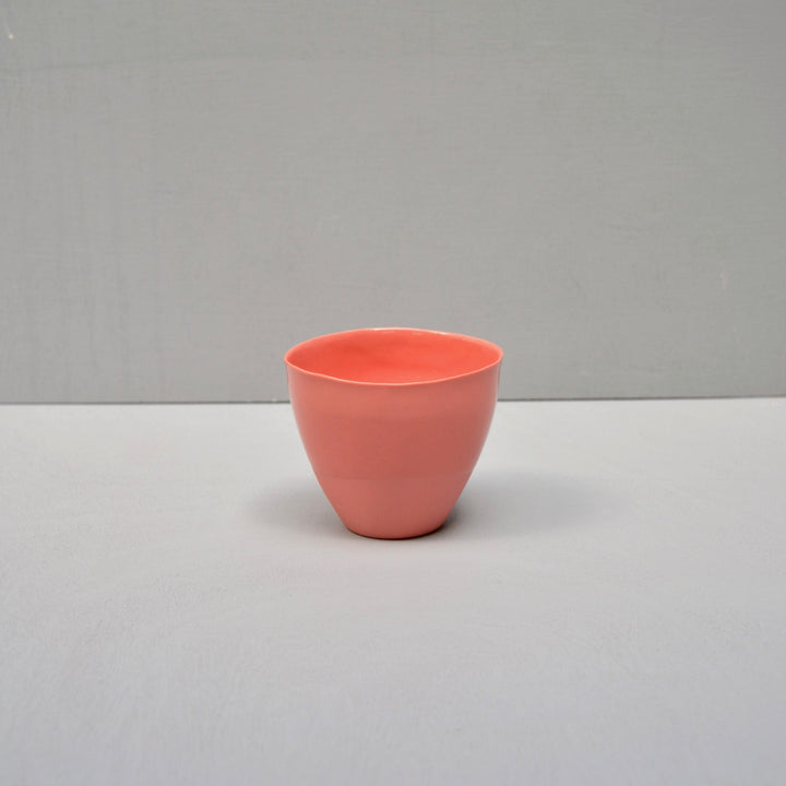 Solid Color porcelain - coffee cup Nr.2- Tangerine tango #45