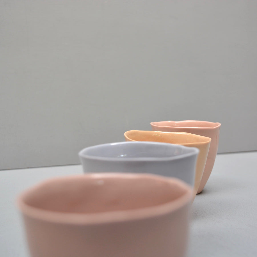Solid Color porcelain - coffee/wine/tea set 4 cups - pastels