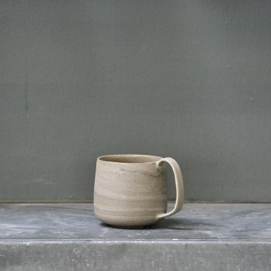 Lazy & Relax mug in Reclaimed & Recycled grey marble and spots