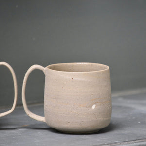 Lazy & Relax mug in Reclaimed & Recycled stone ware Set of two (Nr. 1)