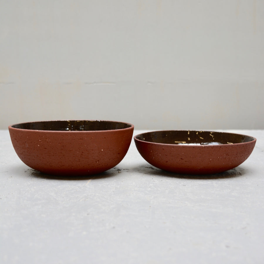 Rock bowls - Red Earth - cone 8 - Low version