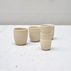 Recycled N&S - ristretto cups no handles - set of 3