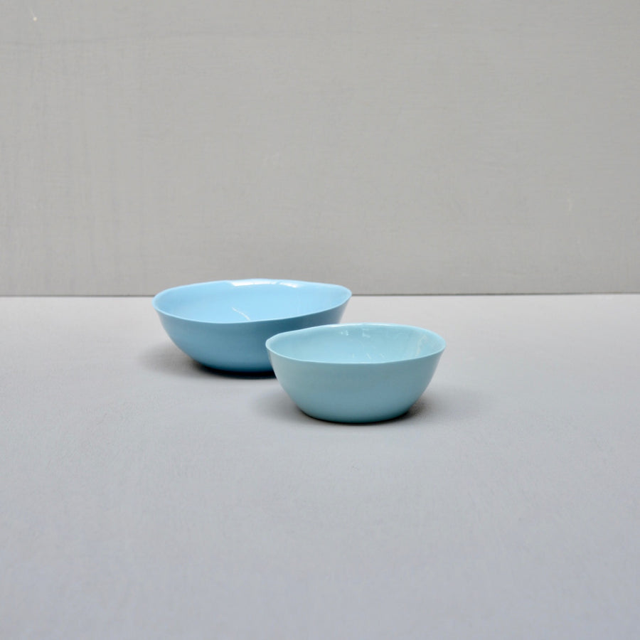 Solid Color porcelain - set 2 dishes - Turqouise Blue