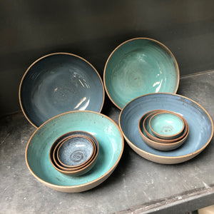 Recycled N&S - Granola & more bowls - in deep sea.