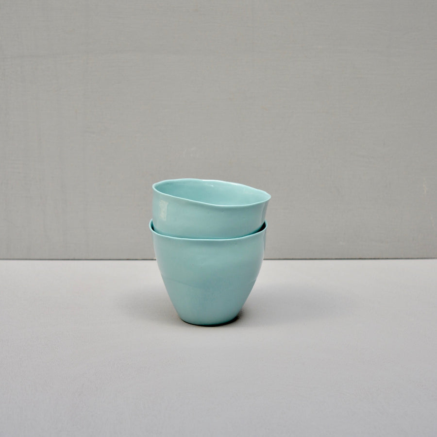 Solid Color porcelain - coffee cup Nr.2 - Spearmint #51 - set of 2