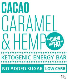 Cacao Caramel & Hemp Ketogenic Energy Bar