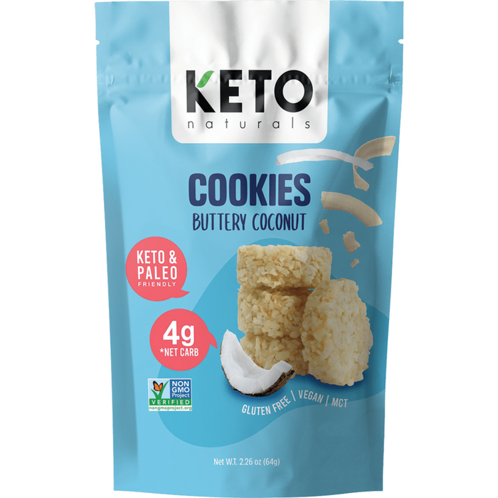 Keto Cookies Buttery Coconut 64g Keto Naturals