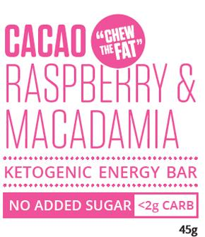 Cacao Raspberry & Macadamia Ketogenic Energy Bar