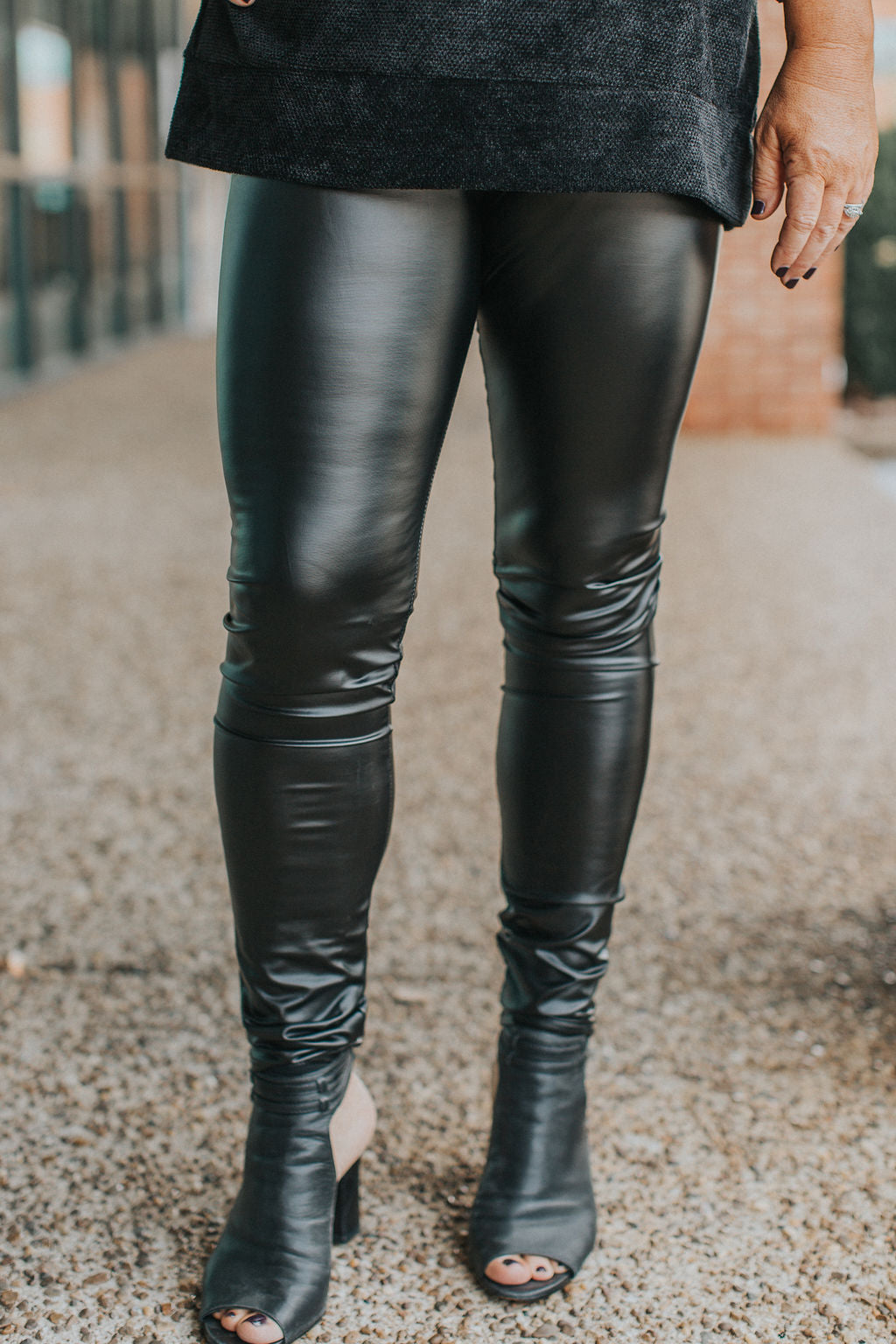 Pour Some Sugar On Me Faux Leather Legging