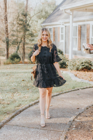 Holiday Cheer Dress in Black