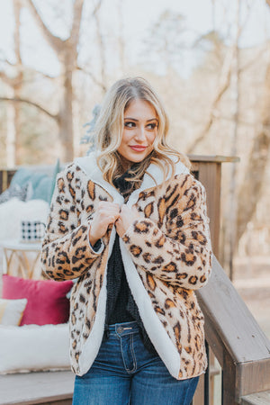 Reversible Snuggle By The Fire Leopard Jacket