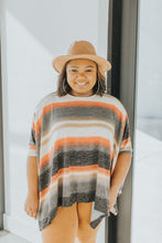 Load image into Gallery viewer, Radiating Warmth Striped Poncho
