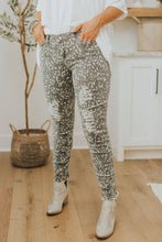 Load image into Gallery viewer, Animal Print Distressed Pants