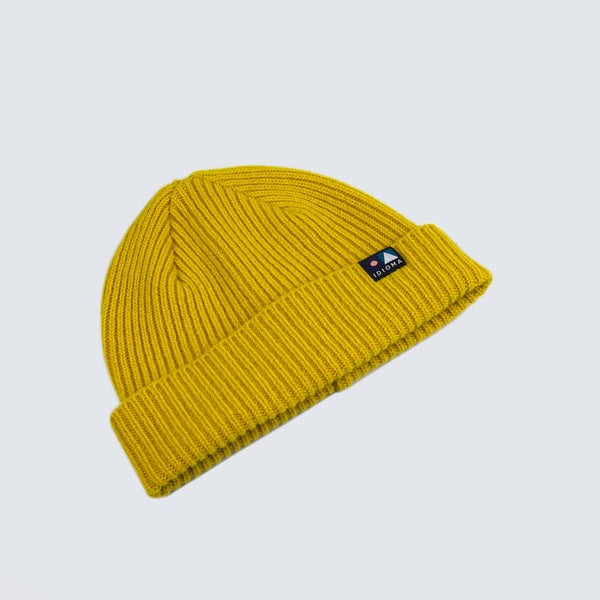 An Alba Wool Beanie - U-Bahn Yellow