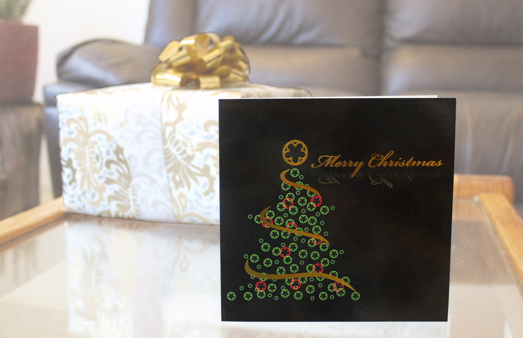 Chainring Christmas Bicycle Card