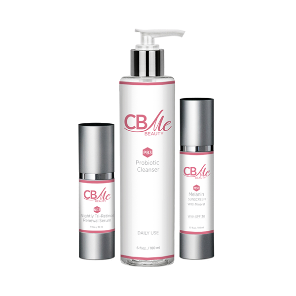 Cleanser + Melanin Sunscreen + Tri-Retinol Serum - CBMe