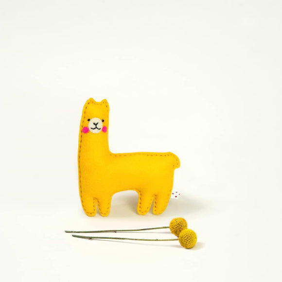 Desert Friend Llama Felt Plush Toy