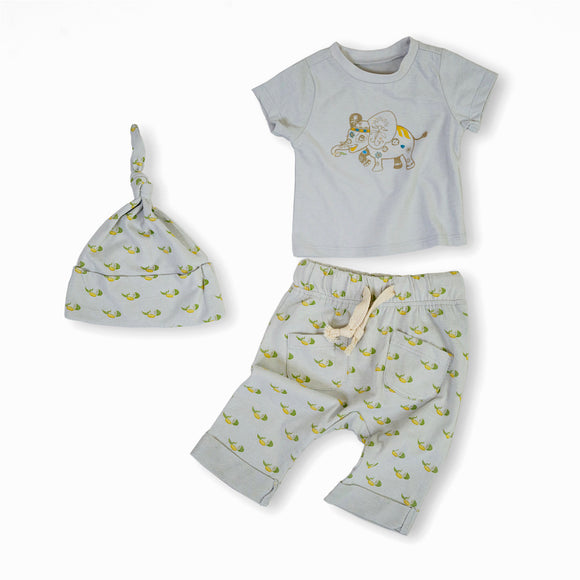 Elijah the Elephant Organic Cotton Baby Set 1