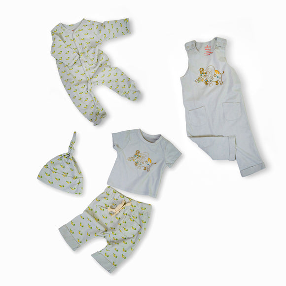 Elijah the Elephant Organic Cotton Baby Set
