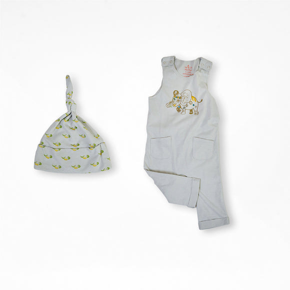 Elijah the Elephant Organic Cotton Baby Set 2