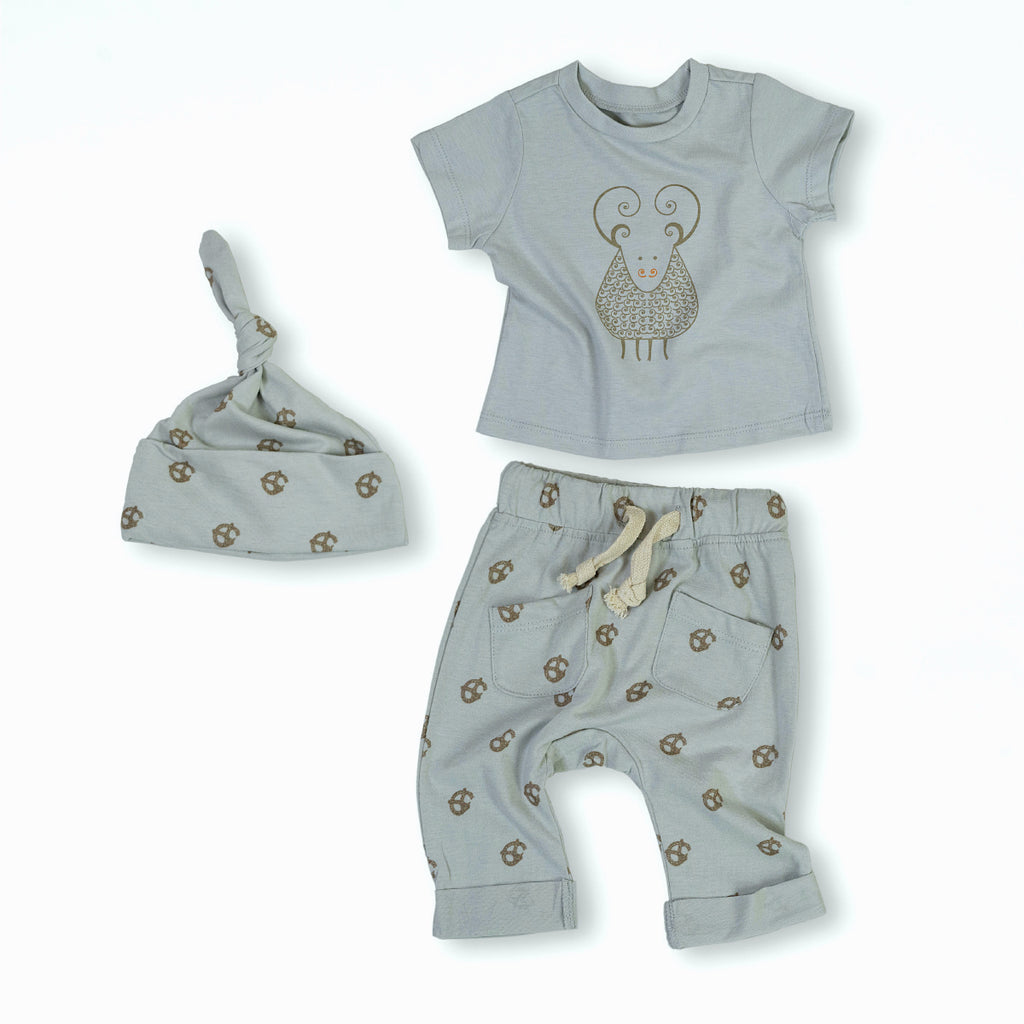 Gavin the Goat Organic Cotton Baby Set 1