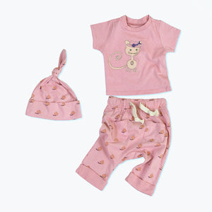 Kiwi the Cat Organic Cotton Baby Set 1