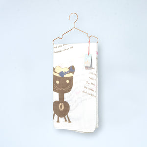 Kiwi the Cat Organic Cotton Muslin