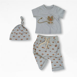 Liam the Lion Organic Cotton Baby Set 1
