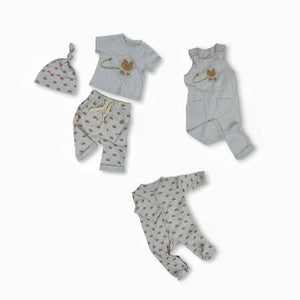 Liam the Lion Organic Cotton Baby Set
