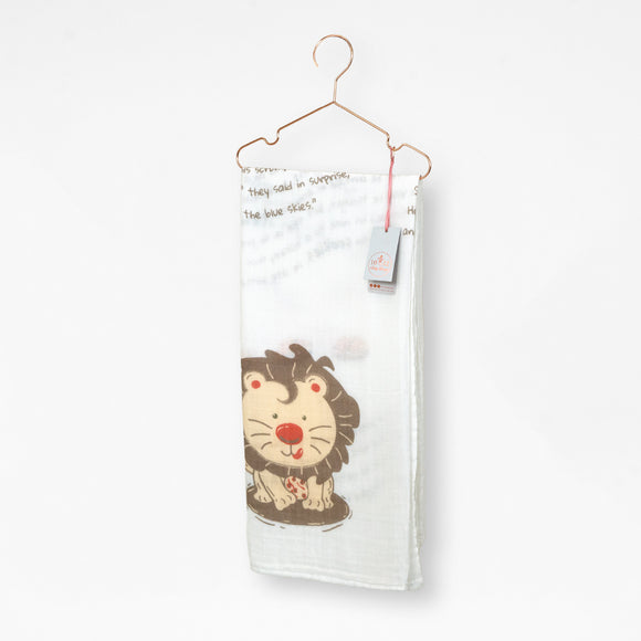 Liam the Lion Organic Cotton Muslin