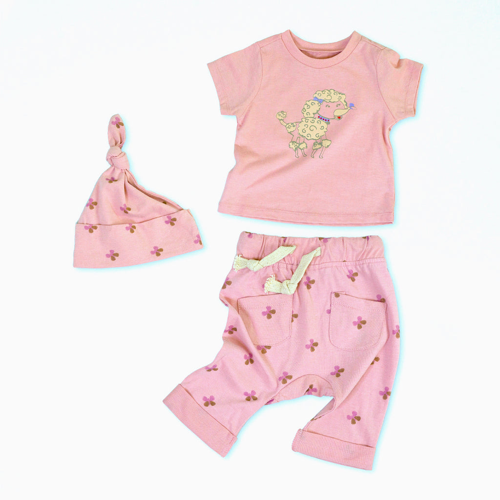 Penelope the Poodle Organic Cotton Baby Set 1