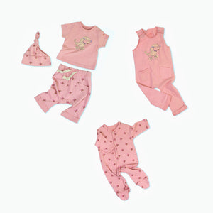 Penelope the Poodle Organic Cotton Baby Set