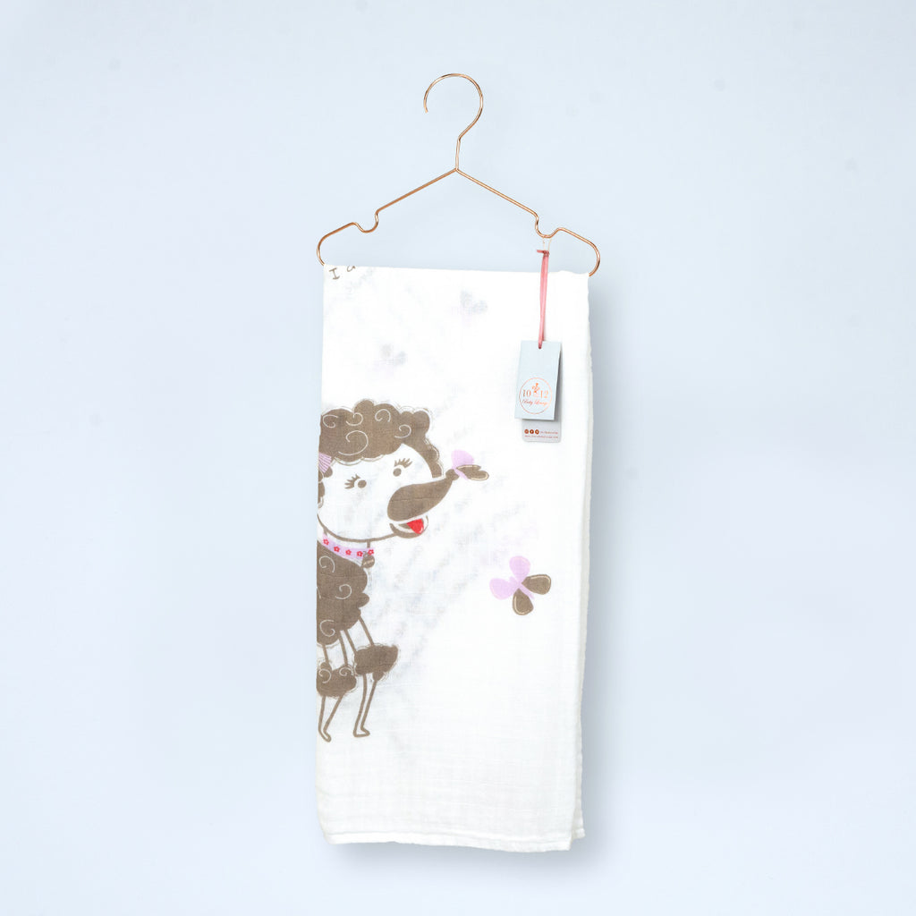 Penelope the Poodle Organic Cotton Muslin