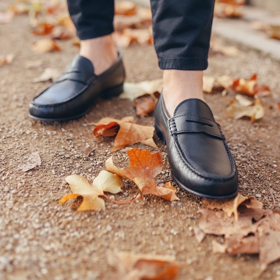 Matt Tapley shoots in Hugs & Co. Penny Loafers