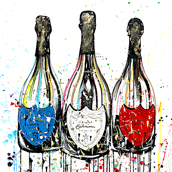 Alex Hall Champagne Painting