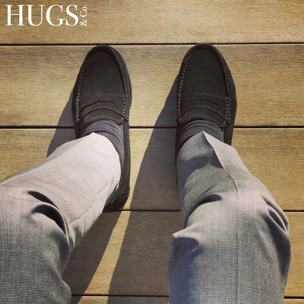 hugs and co suede boat loafers